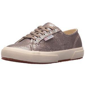 Superga Gray Sequin sneakers Classic Cotu 9.5 39.5